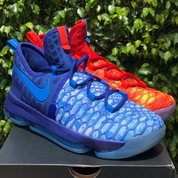 reputable site f2000 205ea Nike Zoom KD 9 GS Fire And Ice Basketball Shoes